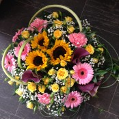 Sunflower & Calla Posy Pad